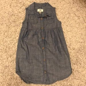 Old Navy Denim-like Tank Dress Size 5T